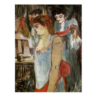 Toulouse-Lautrec - The Tattooed Woman Postcard