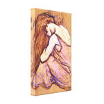 Toulouse-Lautrec - Woman Combing Hair Stretched Canvas Print