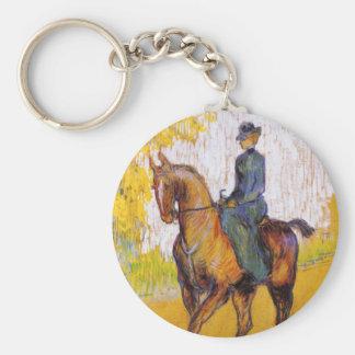 Toulouse-Lautrec Woman on Horse Key Chain
