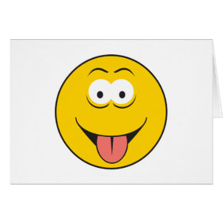 Tounge Out Smiley Face Greeting Card