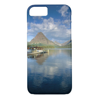 Tour Boat Docked at Two Medicine Lake in Glacier iPhone 8/7 Case
