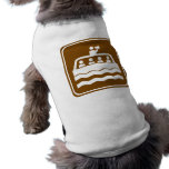 Tour Boat  Highway Sign Doggie Tee Shirt