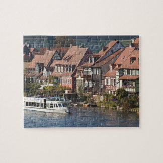Tour boat in Little Venice and River Regnitz Jigsaw Puzzle