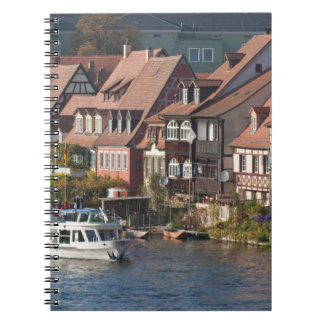Tour boat in Little Venice and River Regnitz Notebook