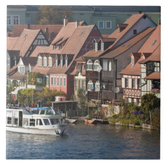 Tour boat in Little Venice and River Regnitz Tile