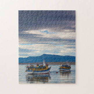 Tour boats on Seno Ultima Esperanza bay Jigsaw Puzzle