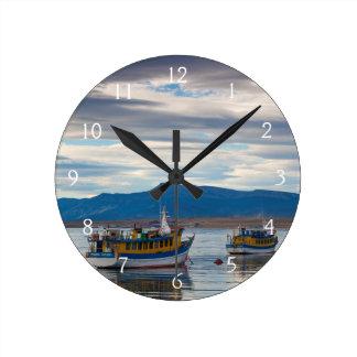 Tour boats on Seno Ultima Esperanza bay Round Clock