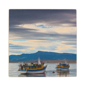 Tour boats on Seno Ultima Esperanza bay Wood Coaster