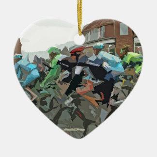 Tour De France 2014 Ceramic Heart Decoration