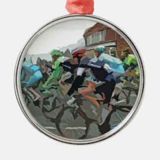 Tour De France 2014 Silver-Colored Round Decoration
