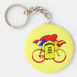 Tour de France champions Spain Yellow Jersey Basic Round Button Key Ring