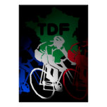 Tour de France Cycling Poster