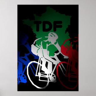 Tour de France Cycling Poster