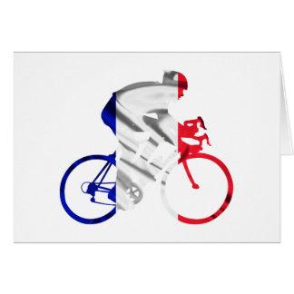 Tour de france cyclist greeting cards