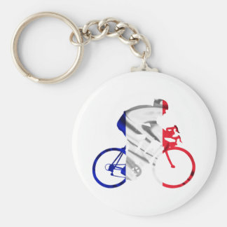 Tour de france cyclist key ring