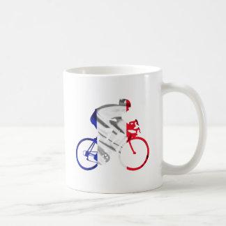 Tour de france cyclist classic white coffee mug