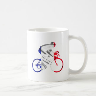 Tour de france cyclist basic white mug