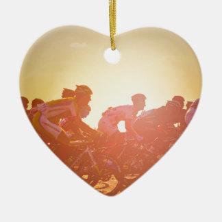 Tour De France Sunset Ceramic Heart Decoration