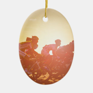Tour De France Sunset Ceramic Oval Decoration
