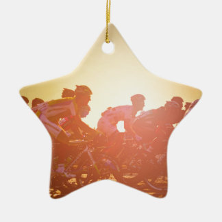 Tour De France Sunset Christmas Ornament