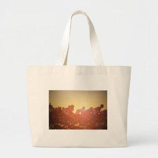 Tour De France Sunset Large Tote Bag