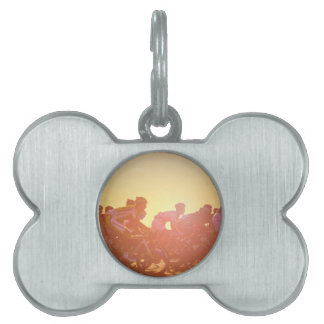 Tour De France Sunset Pet Name Tag