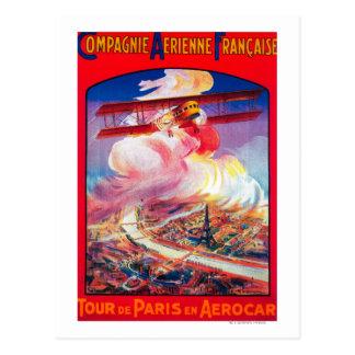 Tour De Paris, France in Aerocar PosterEurope Postcard