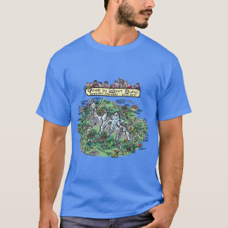Tour du Mont Blanc cartoon map - basic dk t-shirt