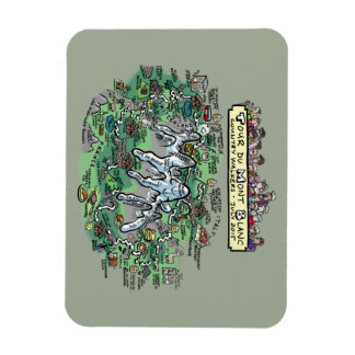 Tour du Mont Blanc cartoon map - magnet