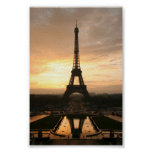 Tour eiffel at sunrise from the trocadero poster