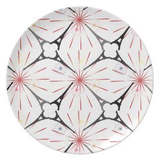 tour eiffel paris pattern dinner plates