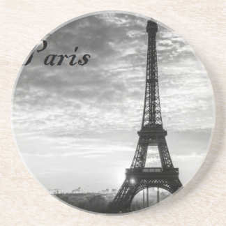 Tour Eiffel Paris - Sunset in Black & White (St.K) Coaster