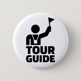 Tour guide 6 cm round badge