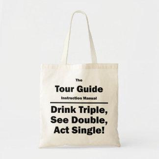 tour guide canvas bags