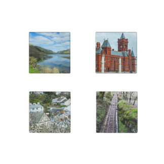 Tour of Wales Coasters Stone Magnet