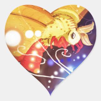 Tourbillion moth heart sticker