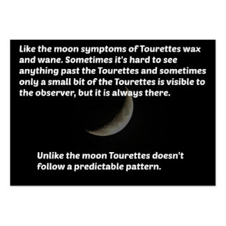 Tourettes moon pack of chubby business cards