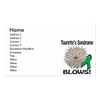 Tourettes Syndrome Blows Awareness Design Business Card