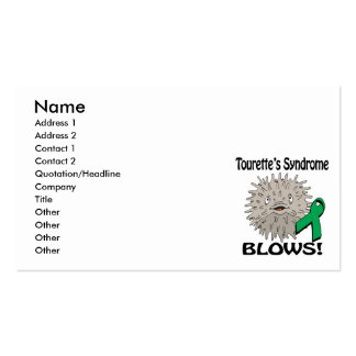 Tourettes Syndrome Blows Awareness Design Business Card Template
