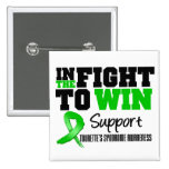 Tourette's Syndrome IN THE FIGHT TO WIN Pinback Button