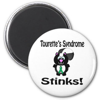 Tourettes Syndrome Stinks Skunk Awareness Design 6 Cm Round Magnet
