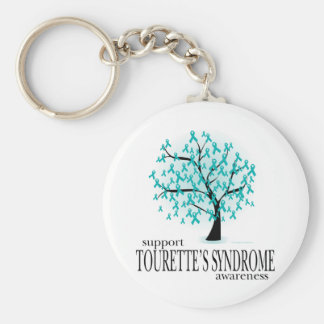 Tourette's Syndrome Tree Key Ring