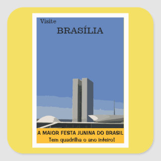 Tourism in Brasilia Square Sticker