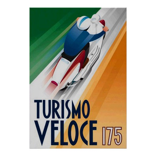 Tourismo Veloce Scooter Advert Posters