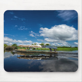 Tourist Boat Reflection Mouse Mat