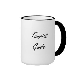 Tourist Guide Artistic Job Design Ringer Mug