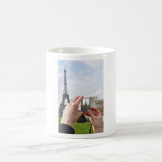 Tourist in Paris Basic White Mug