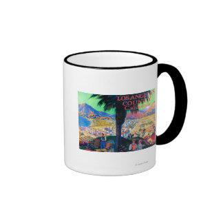 Tourist Poster # 1 Ringer Coffee Mug