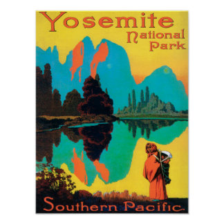 Tourist Poster - Yosemite Nat l Park CA