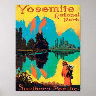 Tourist Poster - Yosemite Nat'l Park, CA